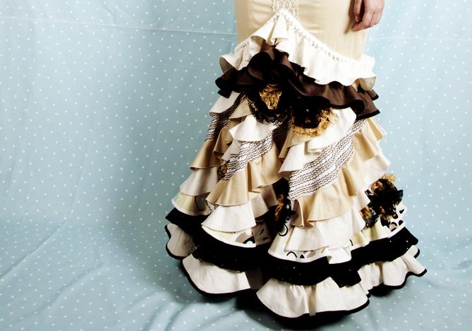 Falda de flamenca hecha con retales