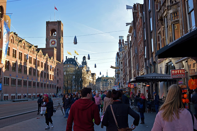 The Butterfly Balcony - Wendy's Week Liverpool to Amsterdam - A stroll along Damrak to Dam Square