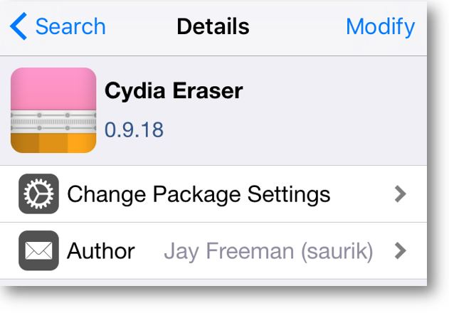 Now for iOS 9 support, Saurik updates Cydia Impactor as Cydia Eraser with a new name and new icon that lets you remove a jailbreak from iPhone/iPad.