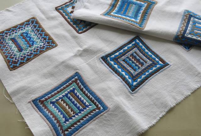 Squares embroidered in Afghanistan as part of DAI projects