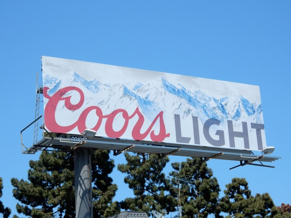 Coors Light May 2015 billboard