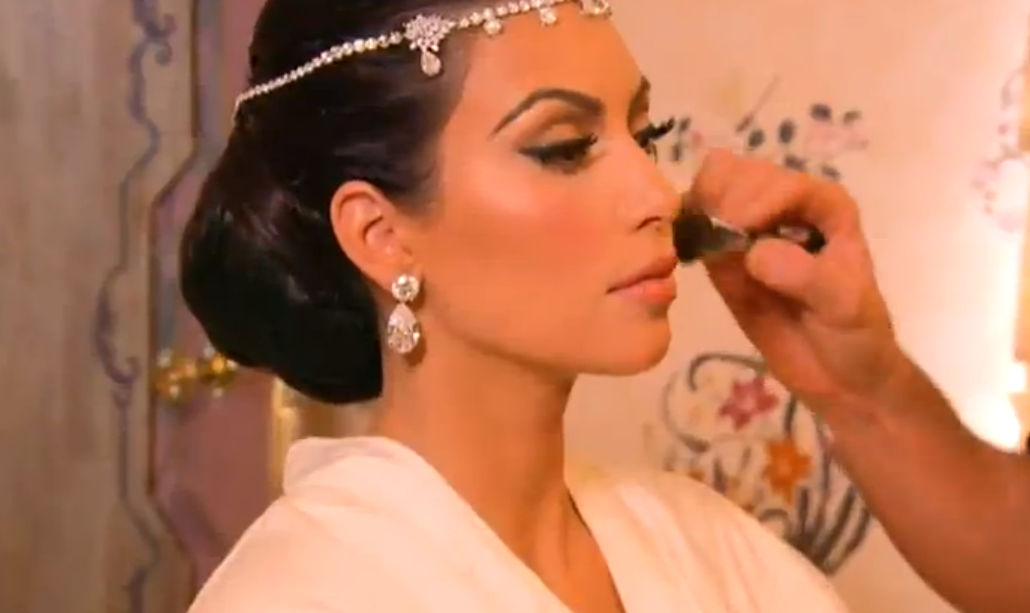 Overdose: Kim Kardashian's wedding Hair & make
