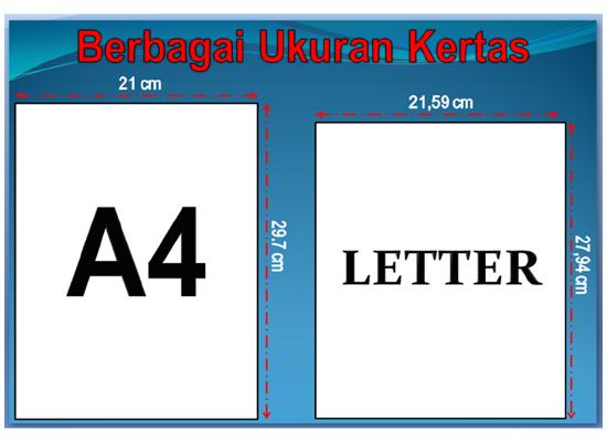 Ukuran Kertas F4 dalam Cm, inci, mm dan di Microsoft Word