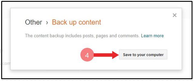Blogger Blog की Post का Backup Download कैंसे करें