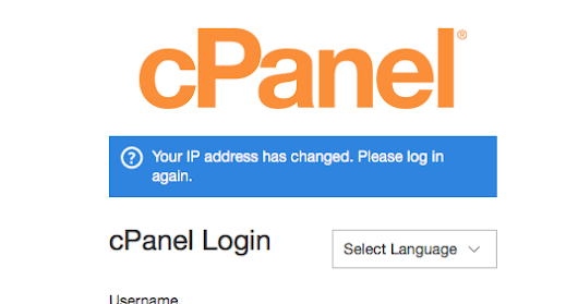 Your Ip Address Has Changed. Please Log In Again { Cpanel } Problem [ Solution ]