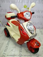 Motor Mainan Aki Pliko Pk7300 Skuter Brown
