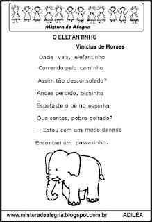 Poesia o elefantinho