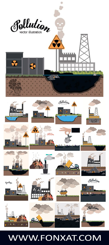 Download images, vector graphics background air pollution