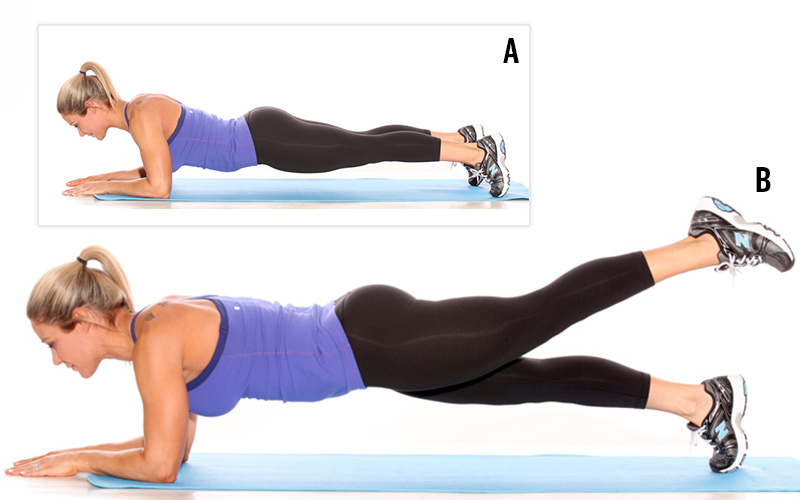 Image result for The raised leg plank