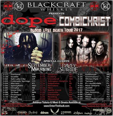 DOPE / Combichrist Announce Blood, Lust, Death 2017 Tour
