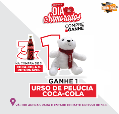 Promoção - Ganhe 1 Urso de Pelúcia Coca-Cola