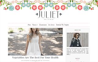juliet blogger template responsive