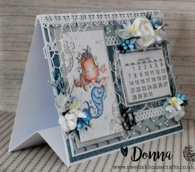 A Fish Kisses To Tilda - Desktop Calendar and Tutorial | By Donna