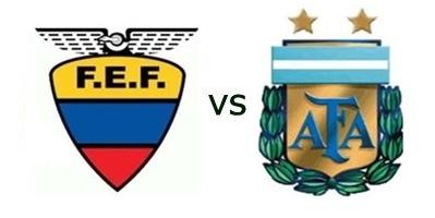 Horarios y alineaciones  de Ecuador vs Argentina