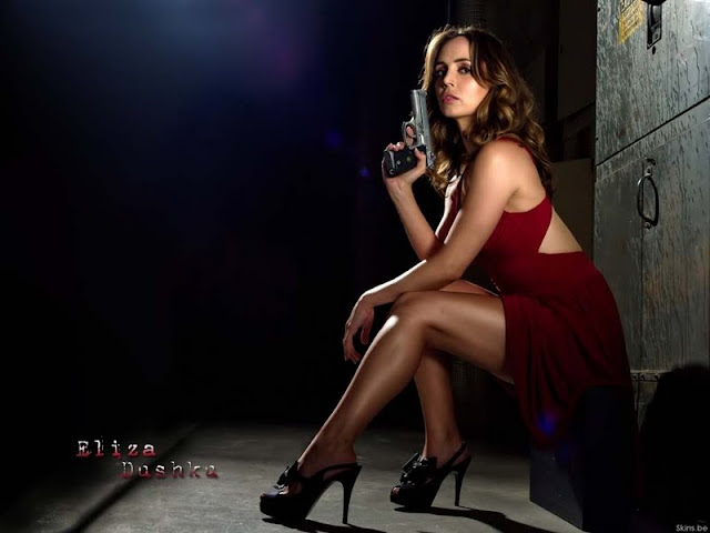 Eliza Dushku sexy in red dress
