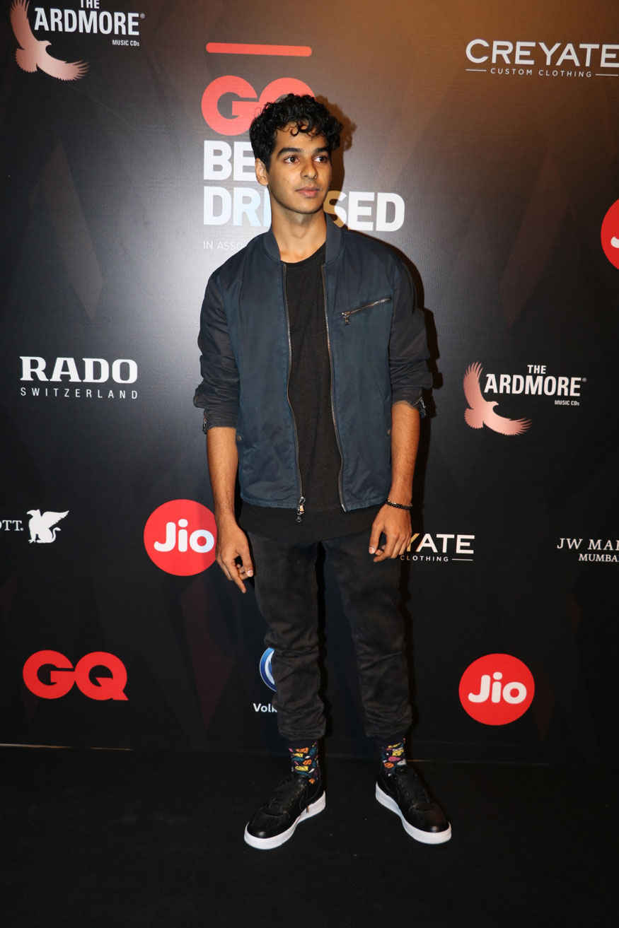 Ishaan Khattar Attends The GQ Best Dressed Awards at JW Marriott Hotel