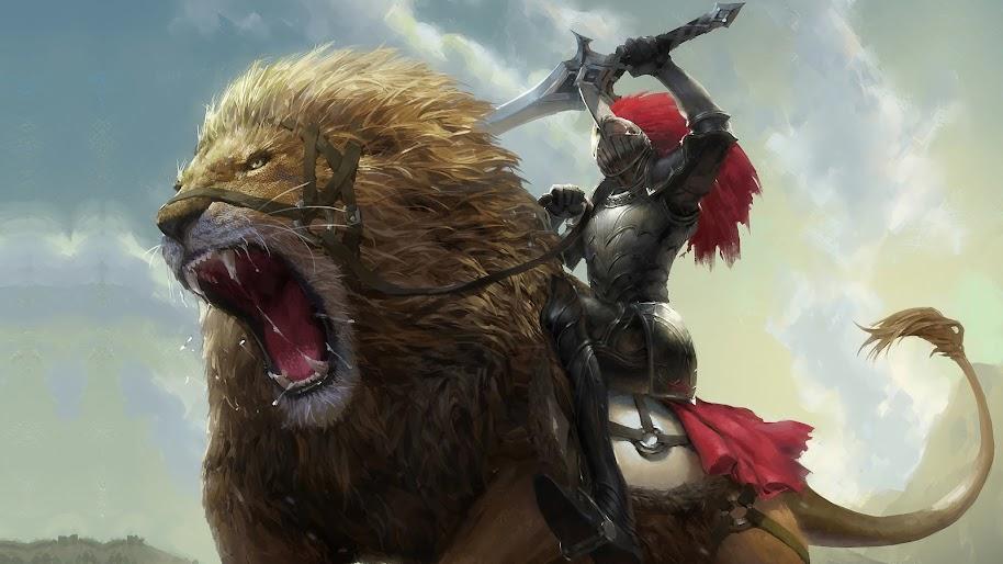 Sci Fi Wallpaper Iphone 6 Lion Roar Knight Fantasy 4k 3840x2160 31 Wallpaper