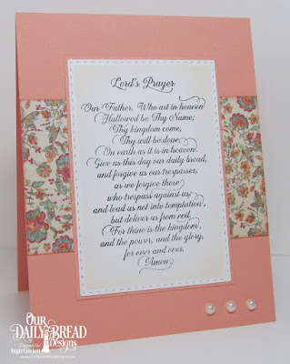 ODBD For Thine Is The Kingdom, Cozy Quilt Paper Collection, ODBD Custom Double Stitched Rectangles Dies, Card Designer Angie Crockett