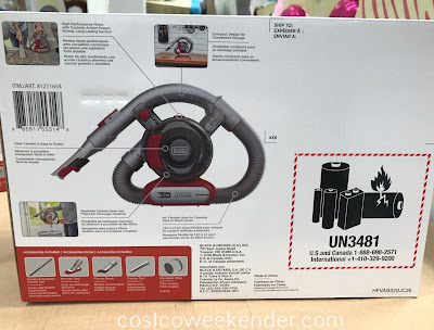 Costco 1211654 - Black & Decker Cordless Flex Car Vacuum can easily take care of the dirt and crumbs from your kids