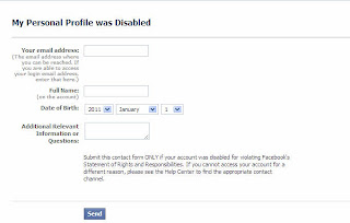 How to open a blocked facebook account