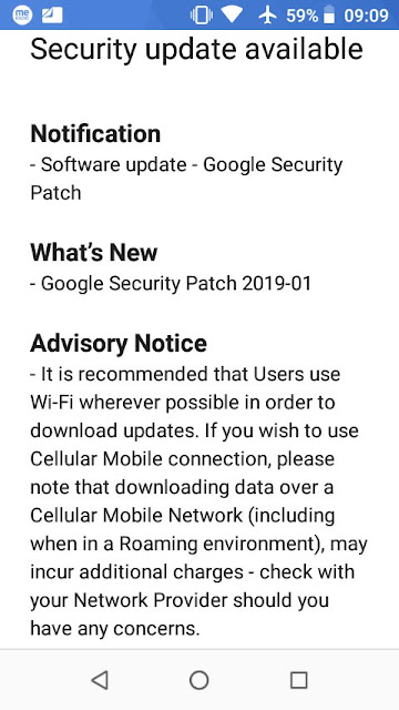Nokia 1 receiving January 2019 Android Security update