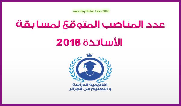 عدد مناصب مسابقة الأساتذة 2018