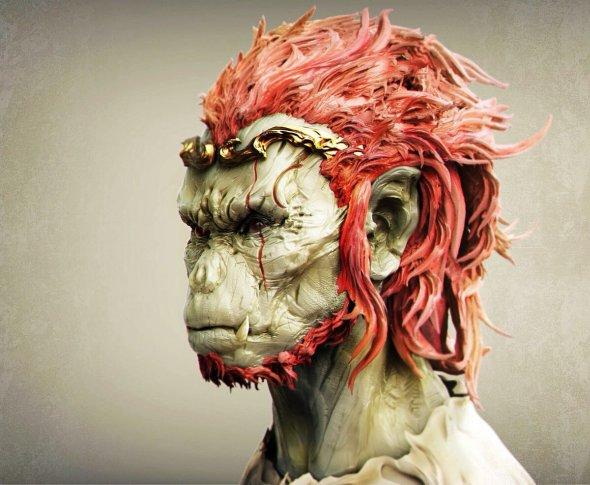 Keita Okada artstation arte esculturas modelos digitais 3D criaturas fantasia ficção científica