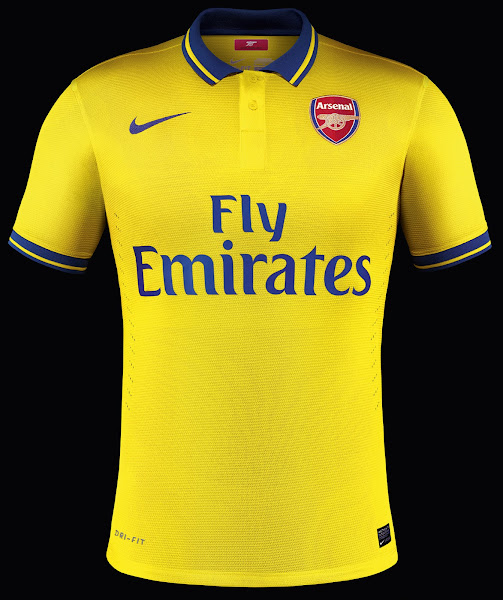 6b436c82580 The Arsenal 2013 14 Home Kit will keep the same as the 12 13 Arsenal Home  Kit. The collar of the Arsenal 13 14 Away Kit is a classical one in blue  featuring ...