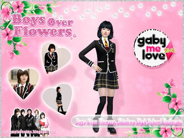 Boys Over Flowers, Shinhwa High School Uniforms - Femenino, Sims 4 (Jan Di)