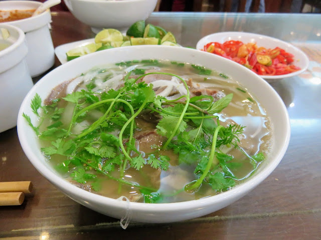 Pho from Pho 10 in Hanoi Vietnam