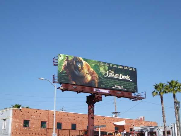 Jungle Book movie billboard