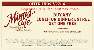 Mimis Cafe coupons for december 2016
