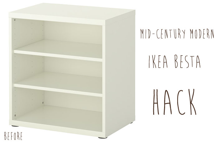 Ikea besta white shelf unit