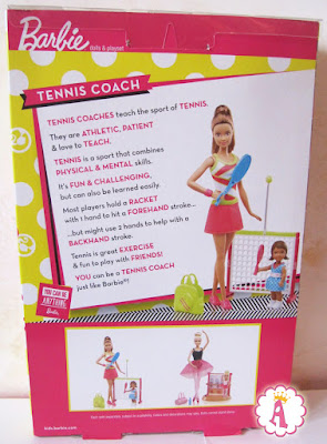 Игрушка в коробке, куклы барби (вид сзади)