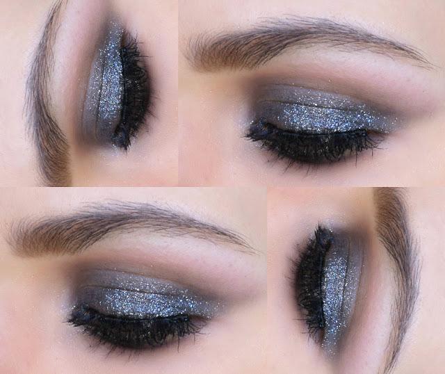 Olho Preto Esfumado com Muito Brilho