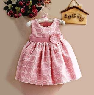 Contoh Dress Baby Lucu Branded Pink Cantik