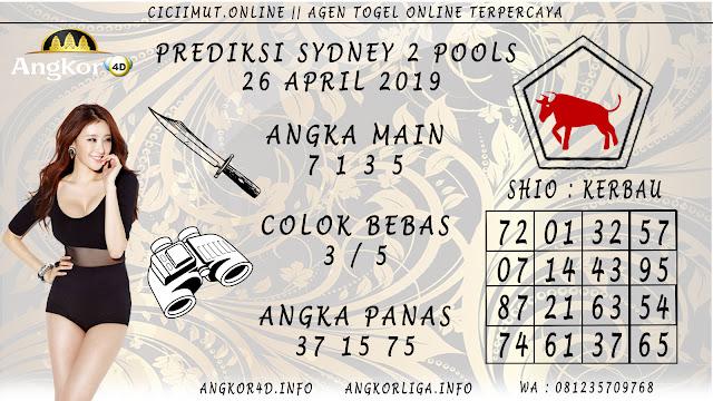Prediksi Angka Jitu SYDNEY 2 POOLS 26 APRIL 2019