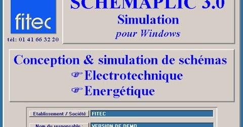 POUR 3.0 WINDOWS SCHEMAPLIC SIMULATION TÉLÉCHARGER