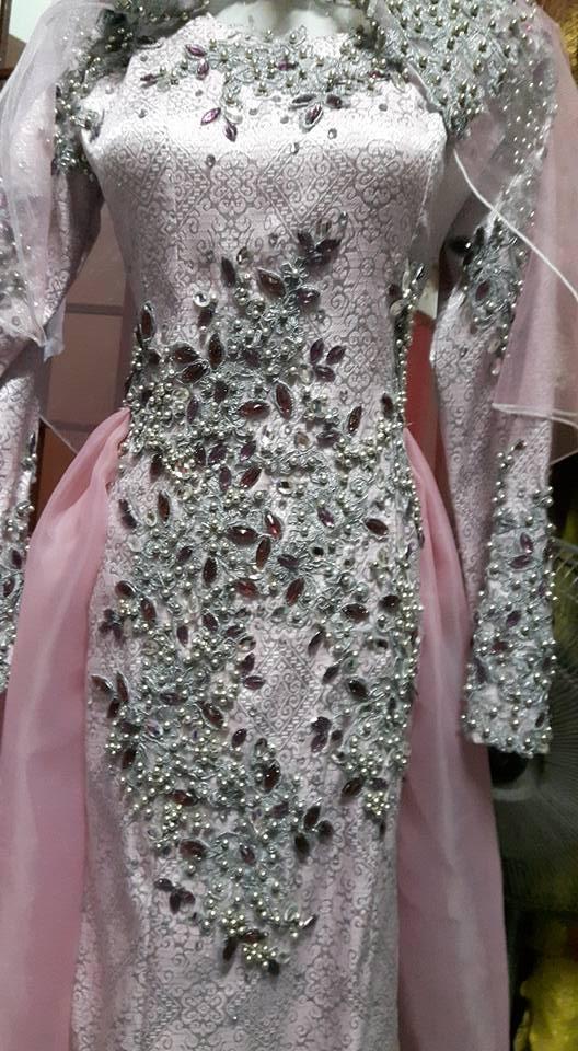 baju pink pengantin