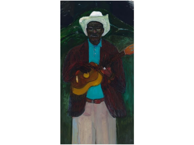 """I do not sing because I am happy. I sing the song because it is about happiness. Embah"", Peter Doig"