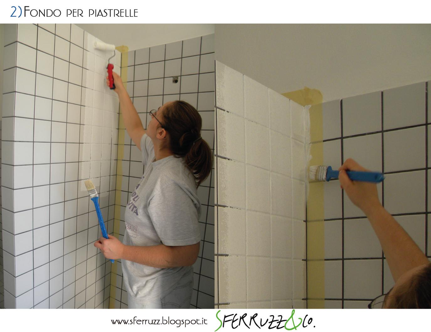 Sferruzz co t g house il bagno blu makeover parte 2 - Stuccare piastrelle bagno ...