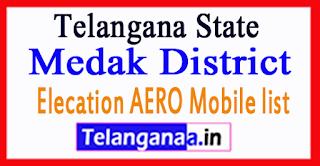 Medak District Elecation AERO Mobile list in Telangana State