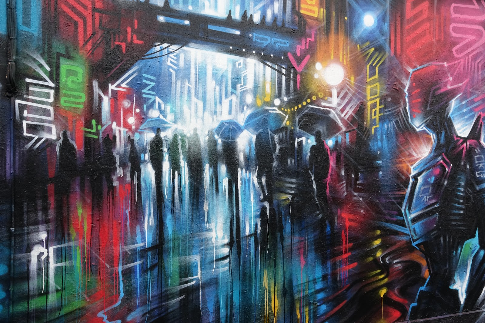 Graffiti Of Brick Lane London Blade Runner City Images