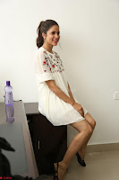 Lavanya Tripathi in Summer Style Spicy Short White Dress at her Interview  Exclusive 152.JPG