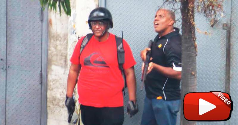 Colectivos de Maduro dispararon contra una enorme manifestación por falta de luz