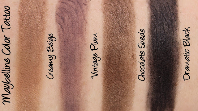 Maybelline Color Tattoo Leather Swatches & Review