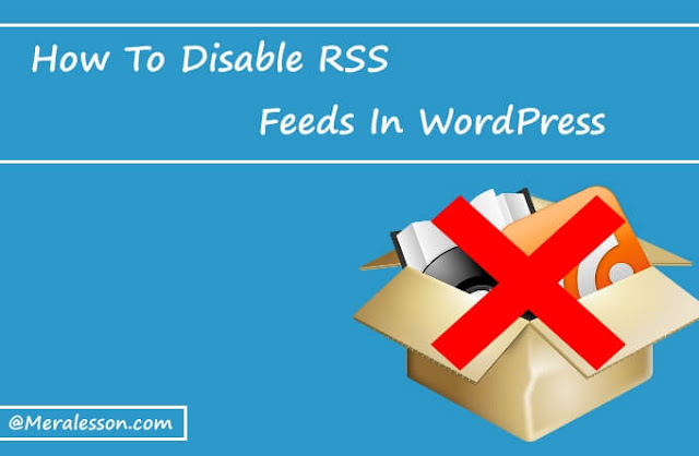 Disable RSS in WordPress