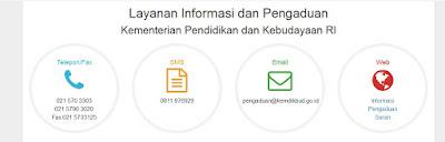 Layanan Informasi dan Pengaduan Kementerian Pendidikan dan Kebudayaan RI