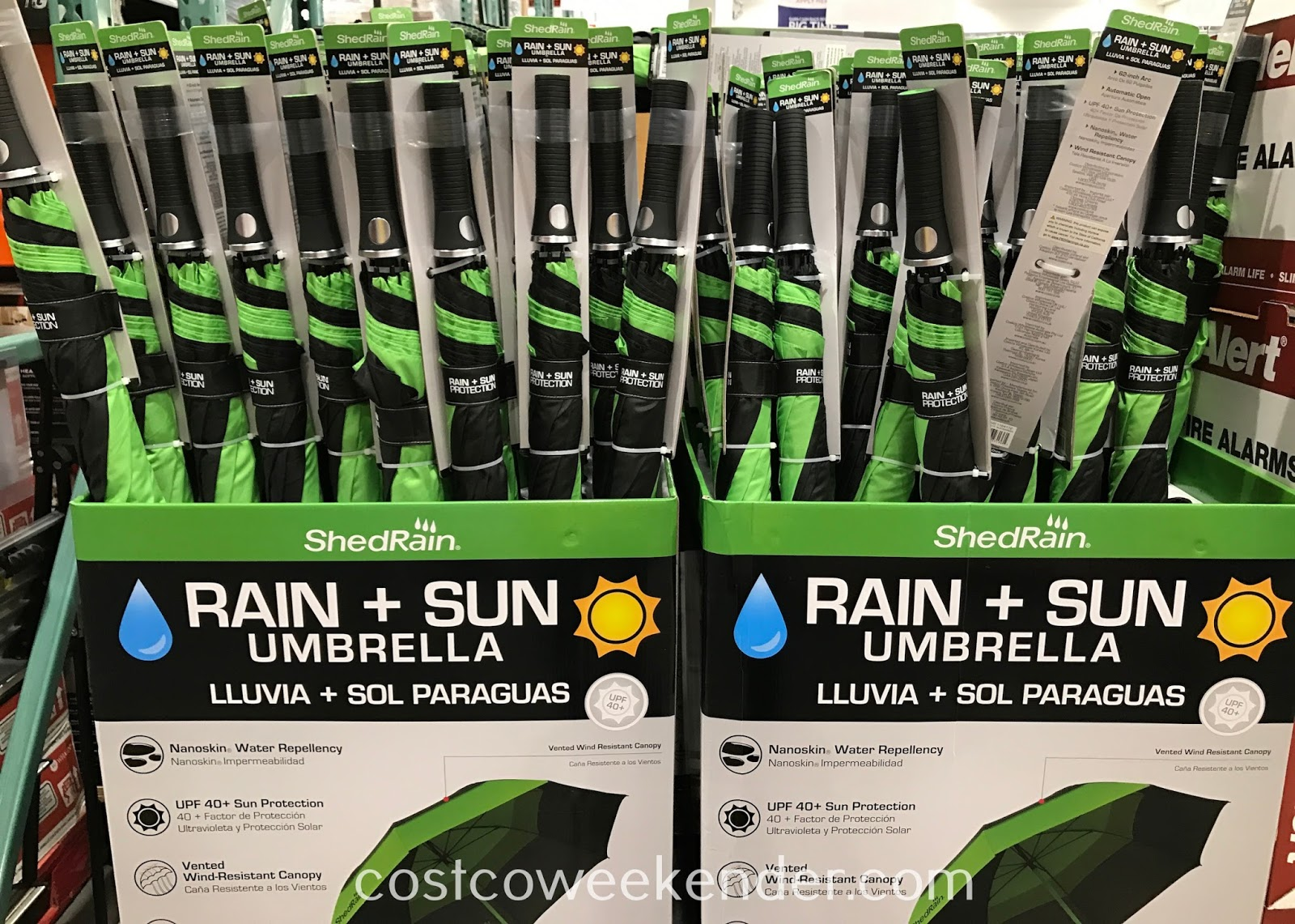 Costco 1164172 - ShedRain Rain and Sun Golf Umbrella: just in time for the winter season