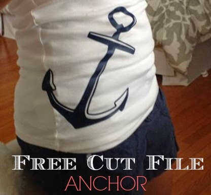Silhouette Studio, free, cut file, large anchor